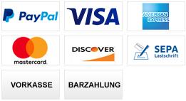 Unsere Zahlungsarten