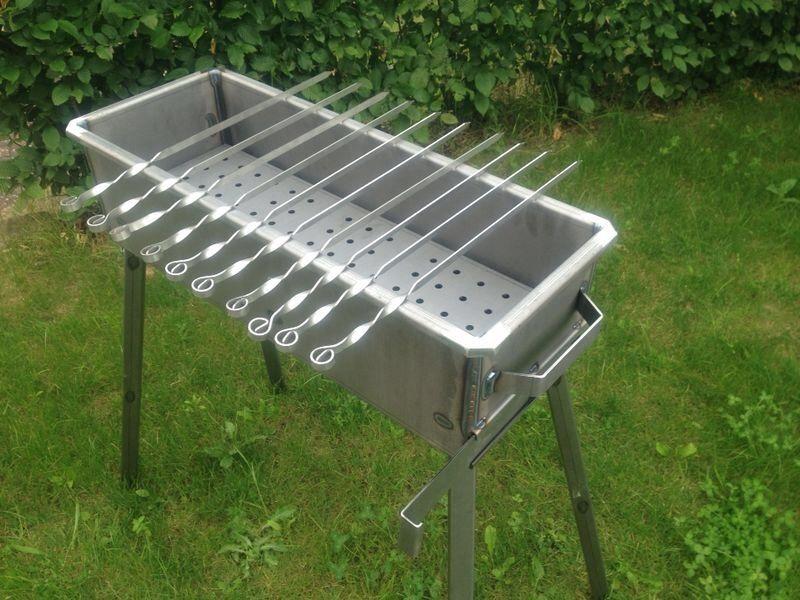 schaschlik grill mangal aus 3 mm stahl st37. Black Bedroom Furniture Sets. Home Design Ideas